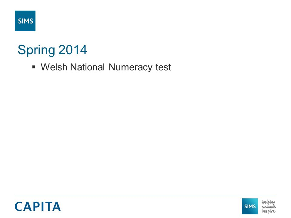 Spring 2014  Welsh National Numeracy test