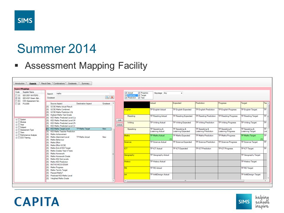 Summer 2014  Assessment Mapping Facility