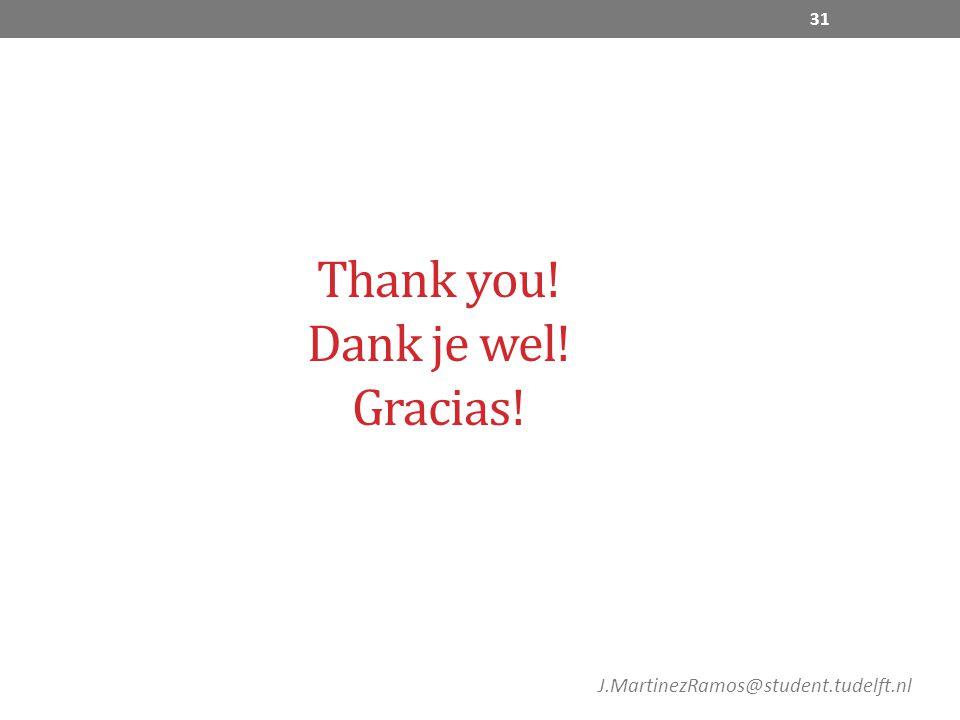 Thank you! Dank je wel! Gracias! 31 J.MartinezRamos@student.tudelft.nl