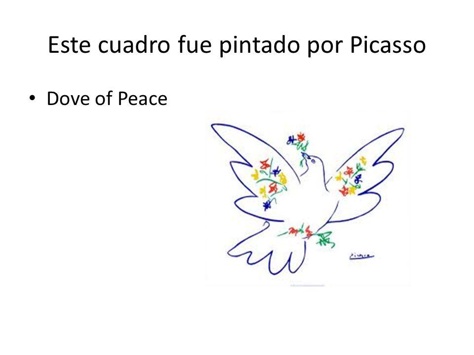 Este cuadro fue pintado por Picasso Dove of Peace