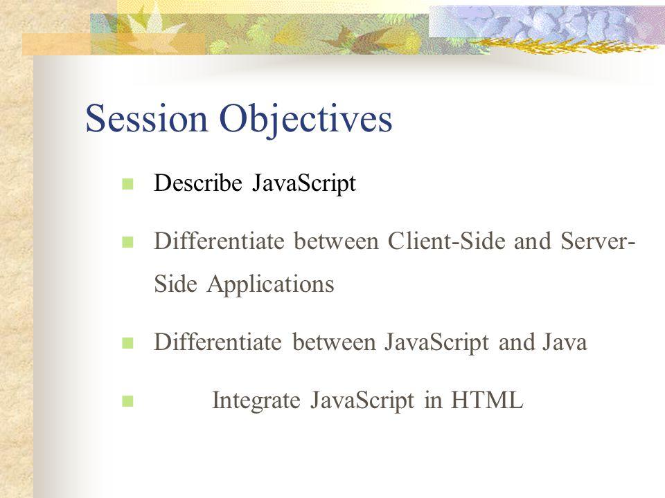 Session 9 Advanced JavaScript