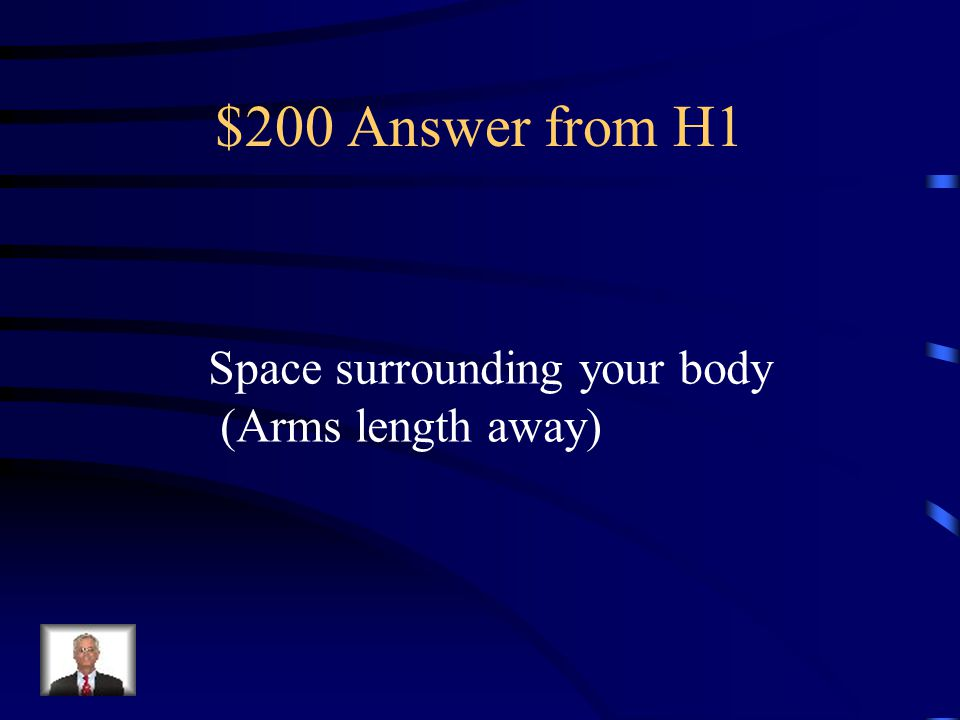 $200 Question from H1 What is self space