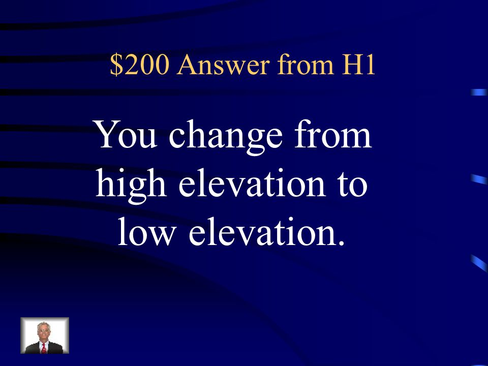 $200 Question from H1 As you move from West to East across Texas, how does elevation change?
