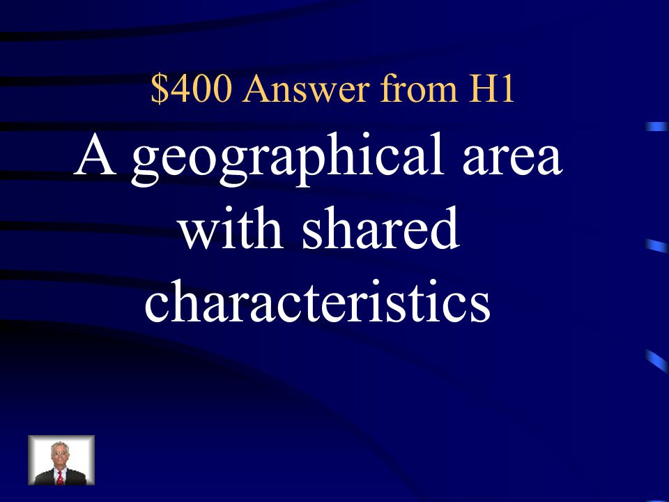 $400 Question from H1 What is a region?