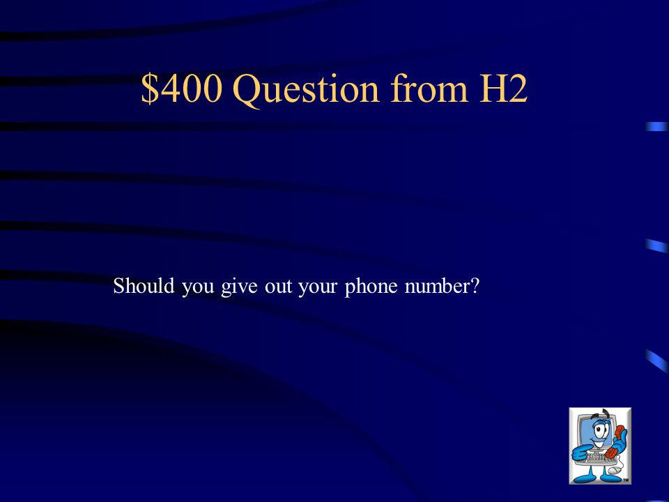$300 Answer from H2 Correct