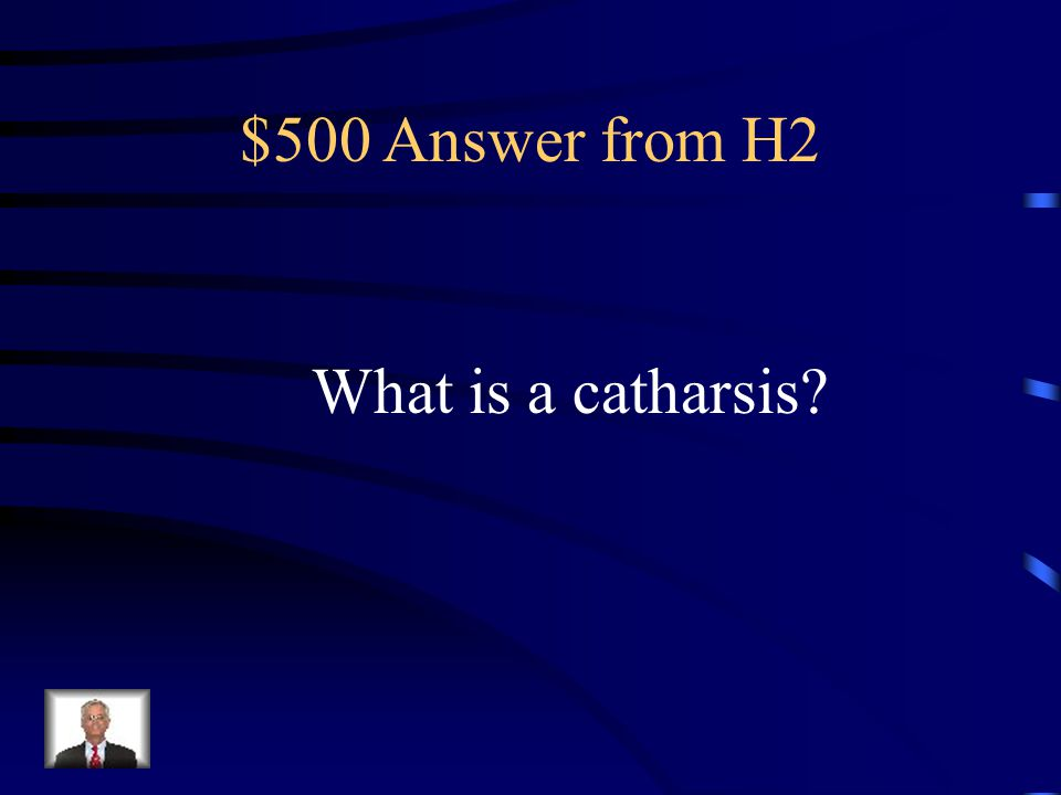 $500 Question from H2 An emotional release