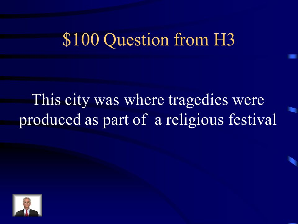 $500 Answer from H2 What is a catharsis?