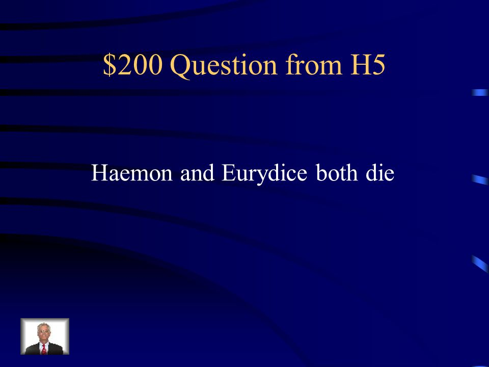 $100 Answer from H5 Who is Ismene?