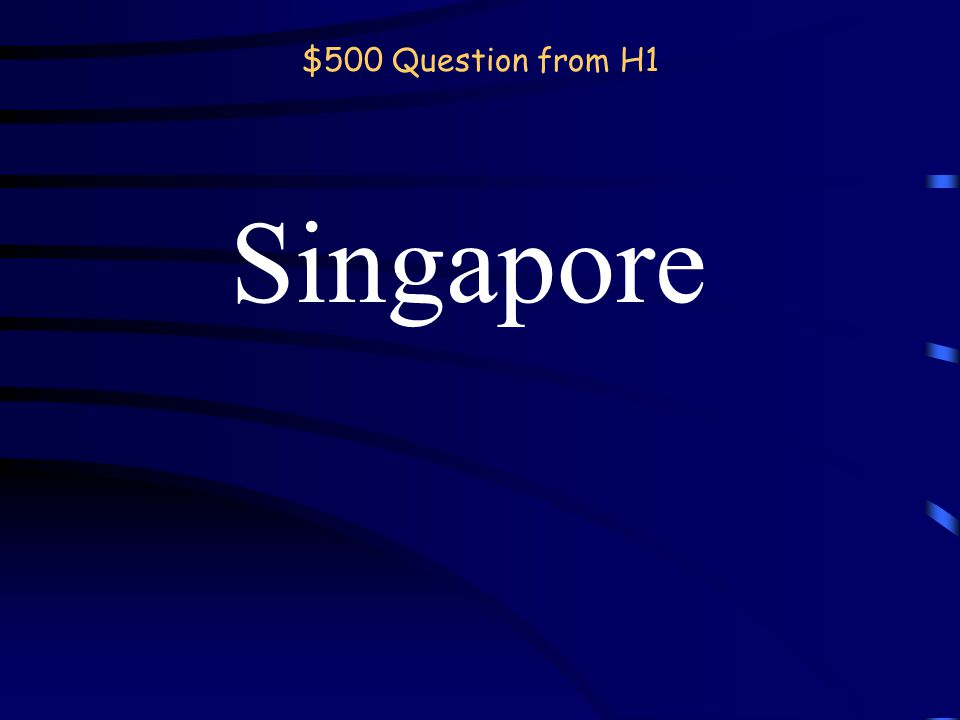 $400 Answer from H1 Continent back