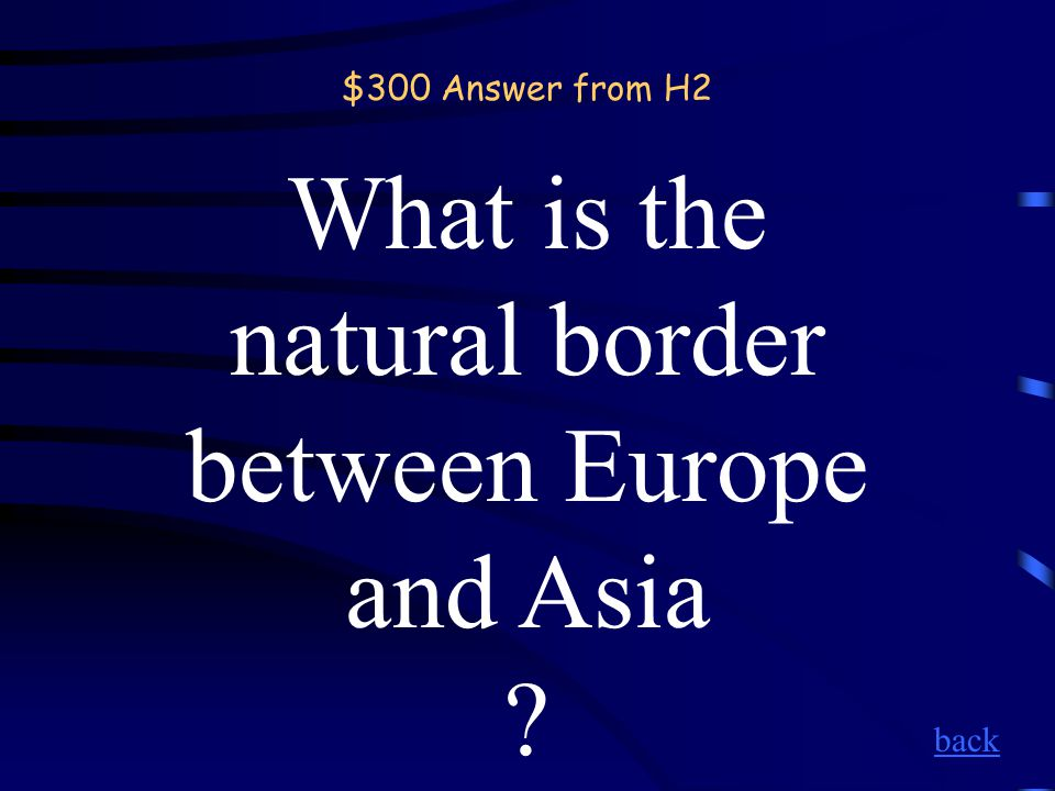 $300 Question from H2 Ural Mountains back