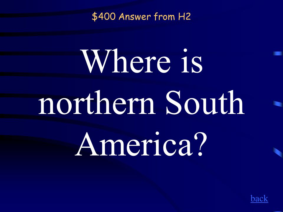 $400 Question from H2 Amazon River