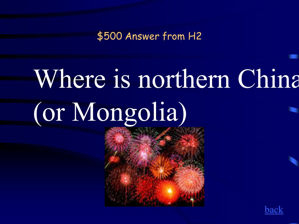 $500 Question from H2 The Gobi Desert. back