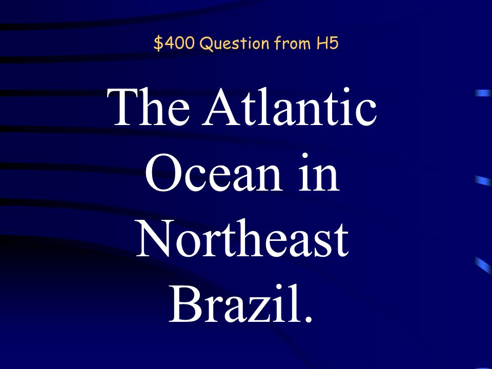$200 Answer from H5 What is the Mississippi River? Back