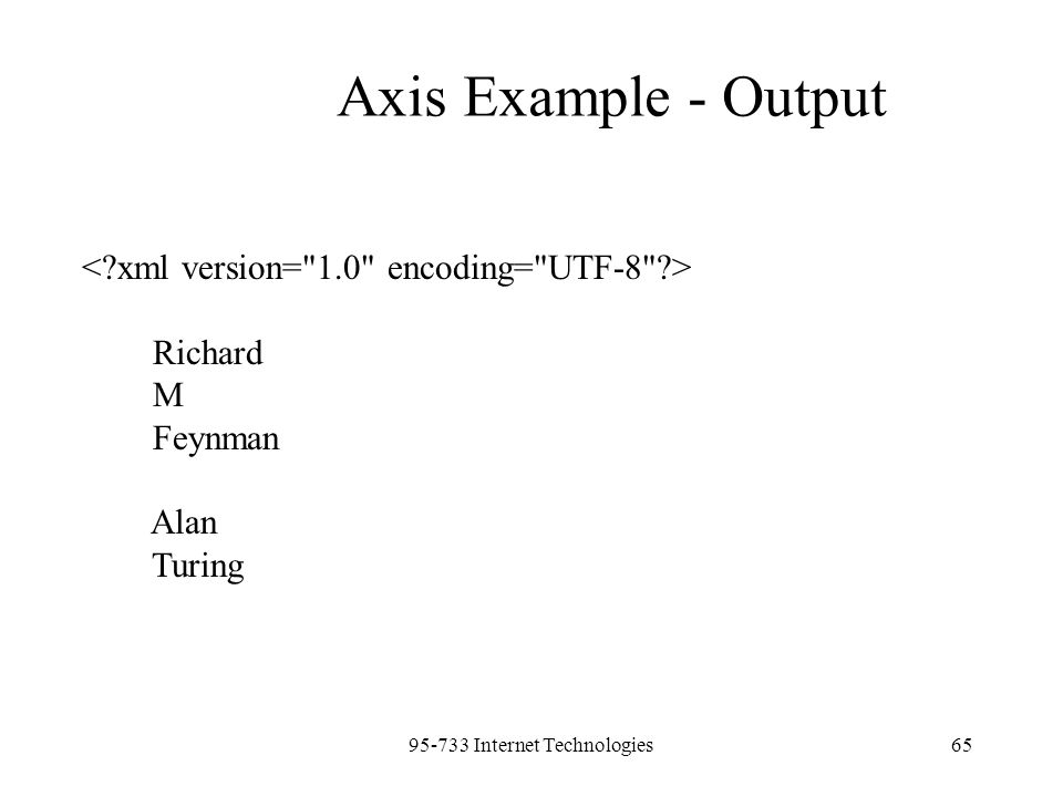 95-733 Internet Technologies65 Richard M Feynman Alan Turing Axis Example - Output
