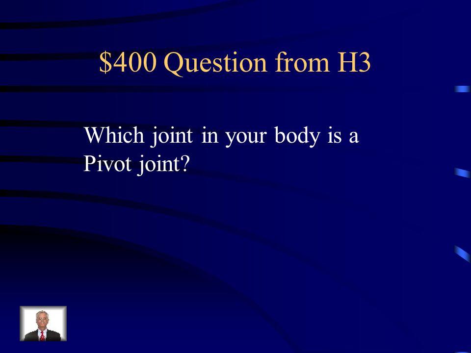 $300 Answer from H3 Backward or Forward