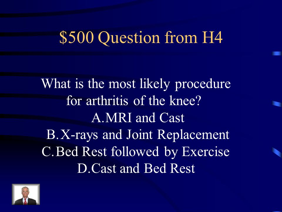 $400 Answer from H4 Arthroscope