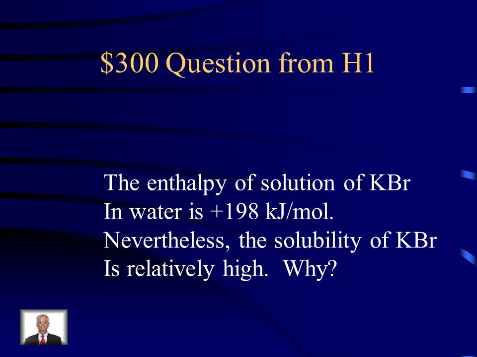 $200 Answer from H1 endothermic
