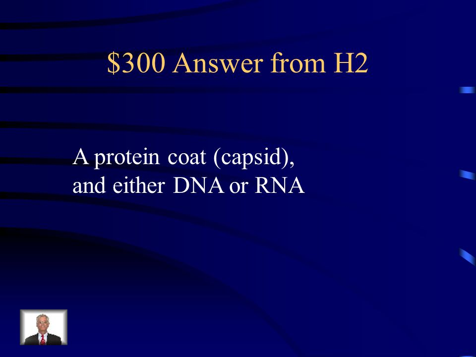 $300 Question from H2 What is a virus composed of