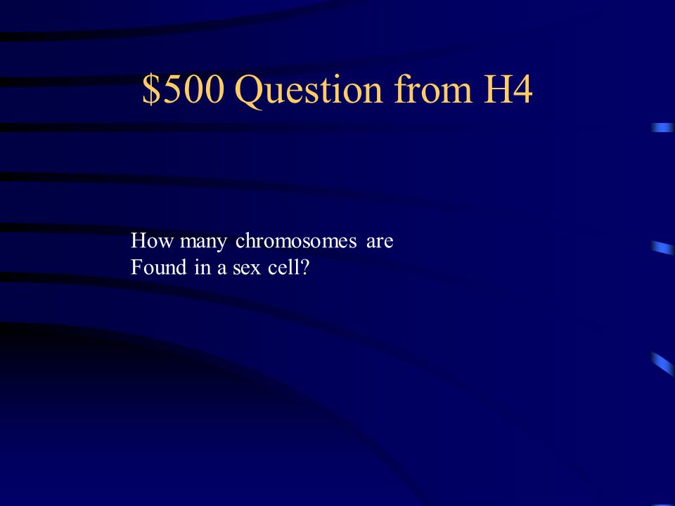 $400 Answer from H4 FERTILIZATION And form a ZYGOTE