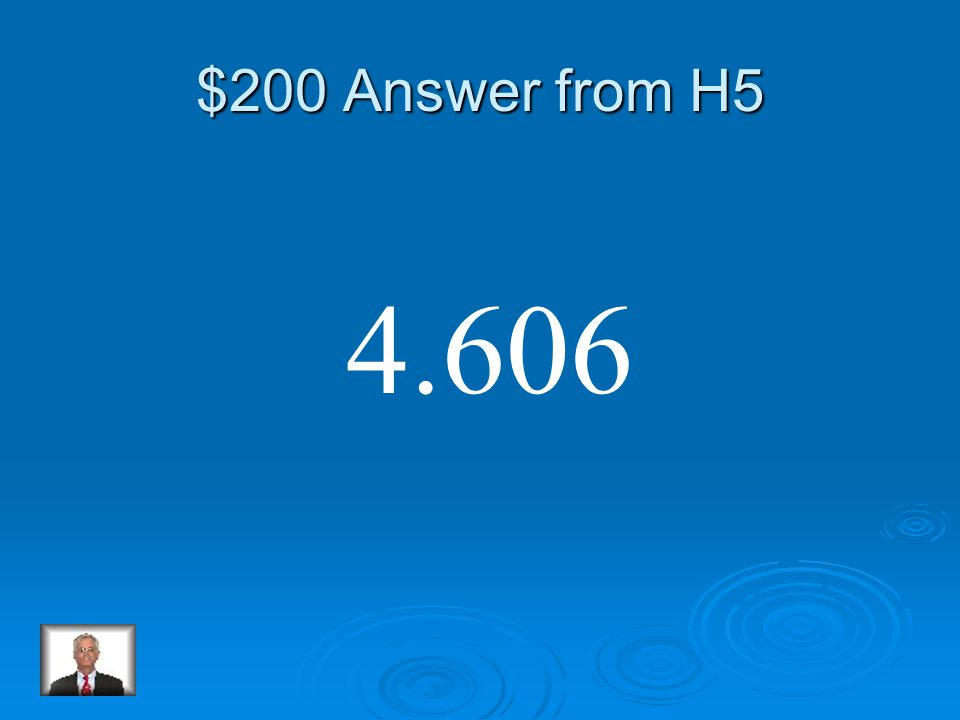 $200 Question from H5 3.29 x 1.4