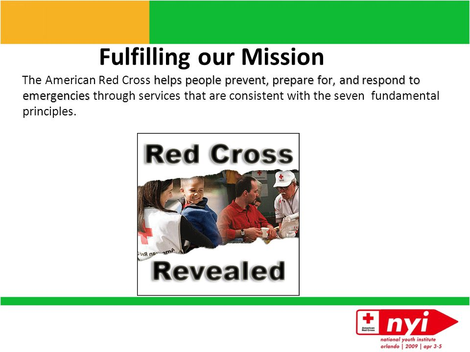 American Red Cross At a Glance