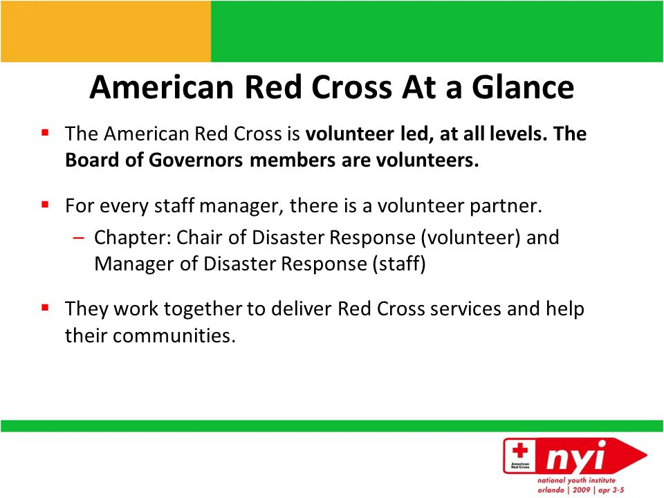Fulfilling our Mission helps people prevent, prepare for, and respond to emergencies The American Red Cross helps people prevent, prepare for, and res