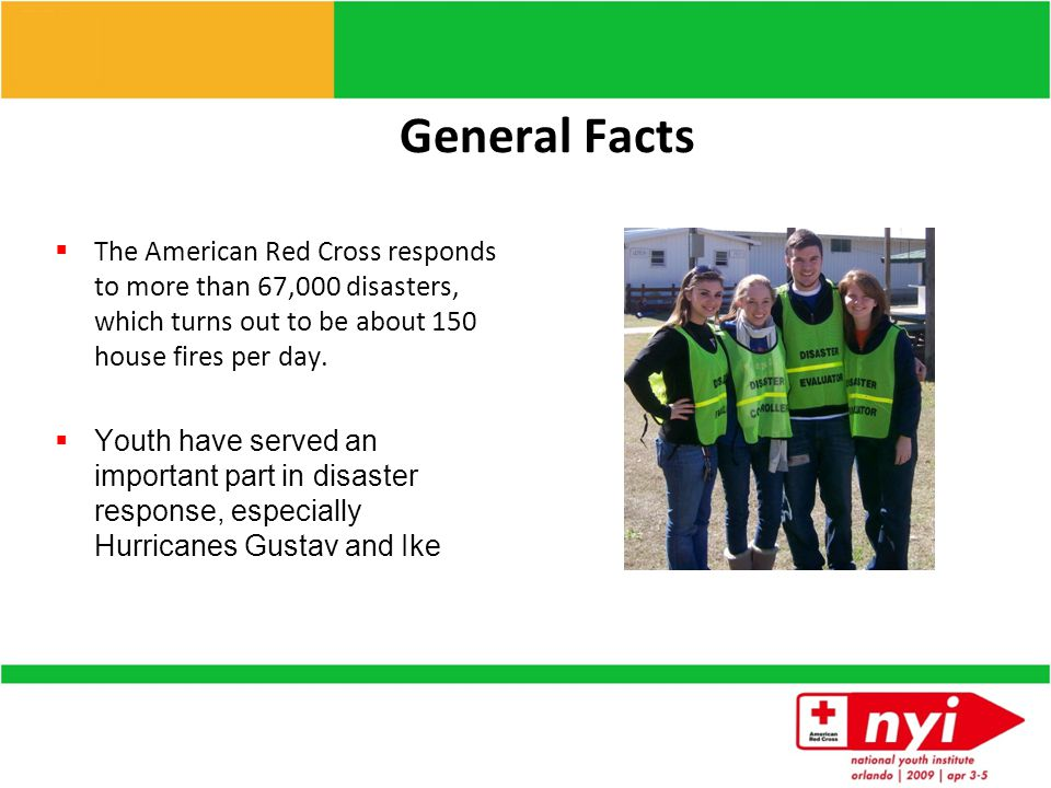 American Red Cross Lines of Service Disaster Services