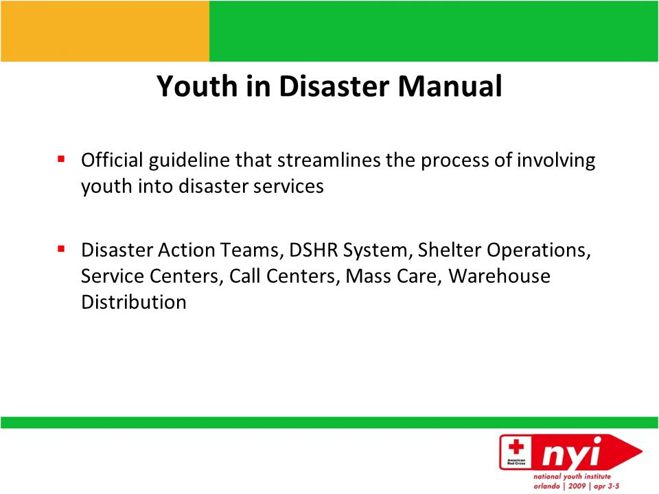 How can youth be involved  Disaster Action Teams  Who is involved  What it takes