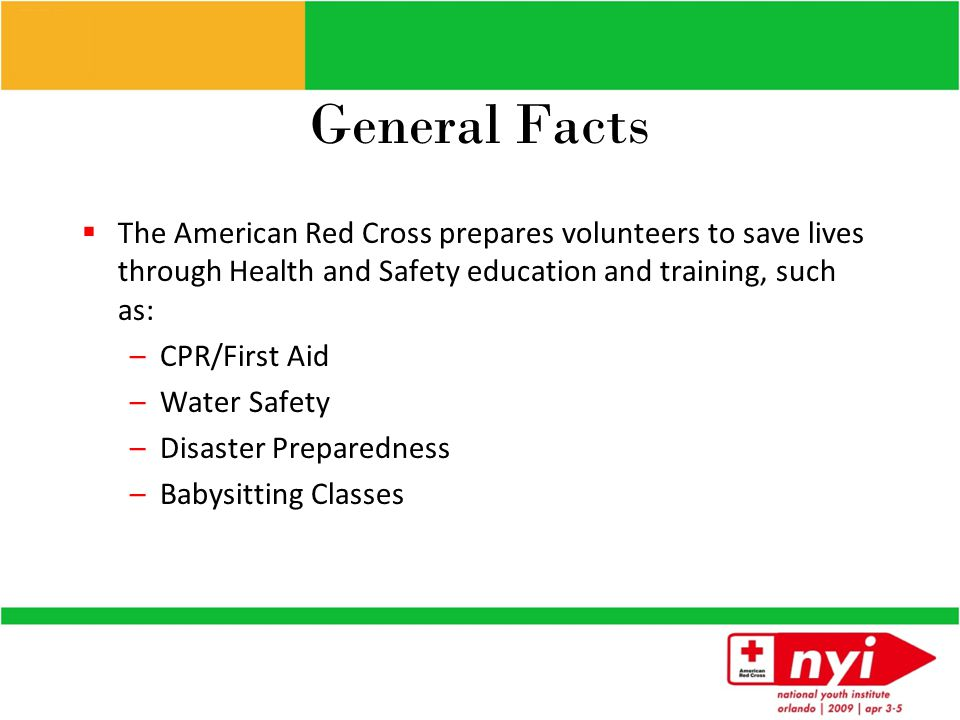 American Red Cross Lines of Service Health & Safety