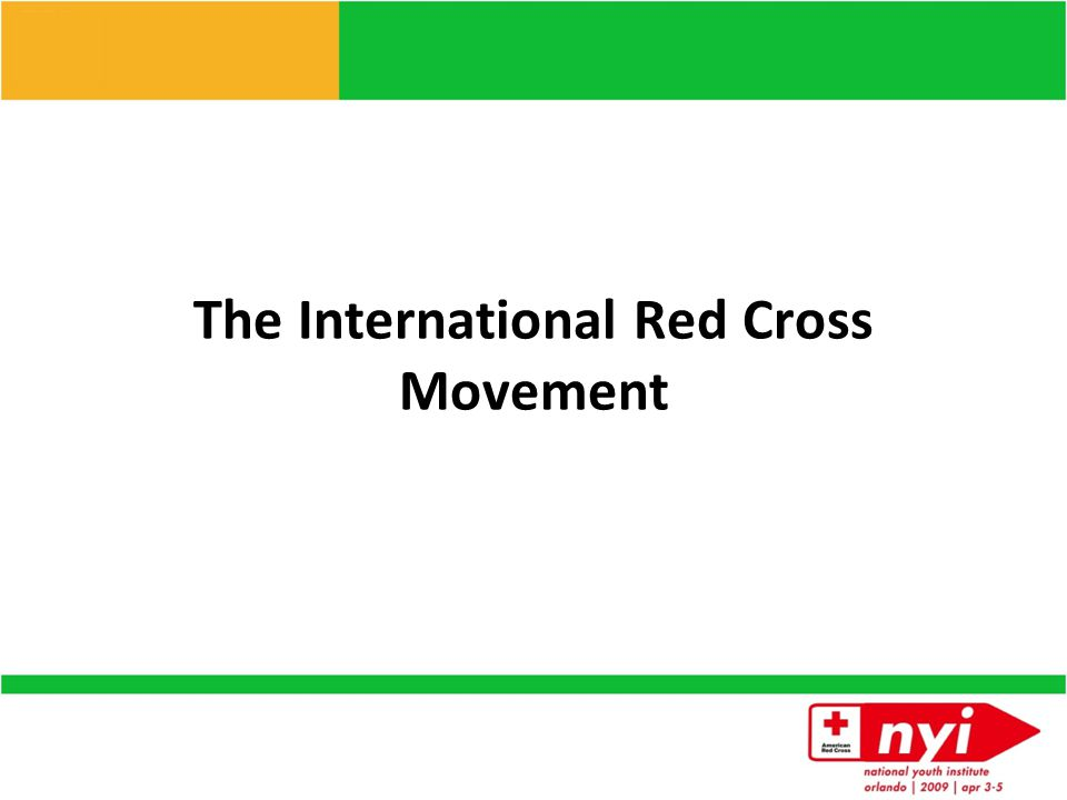 The International Red Cross Movement