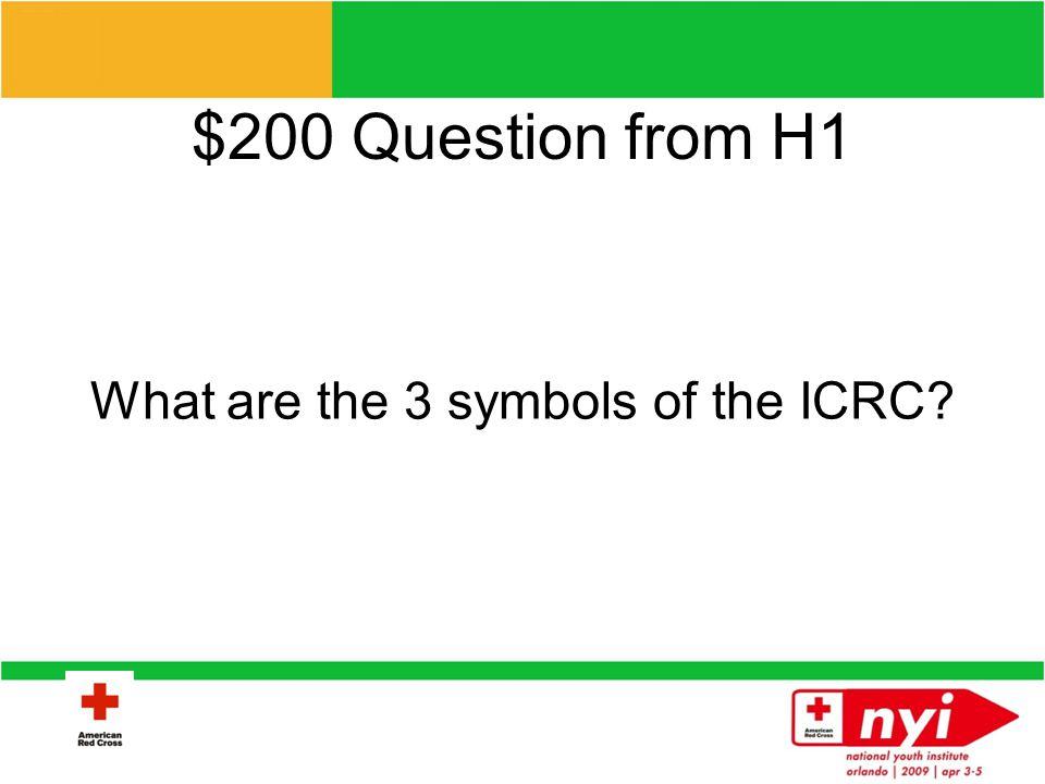 $100 Answer from H1 Clara Barton