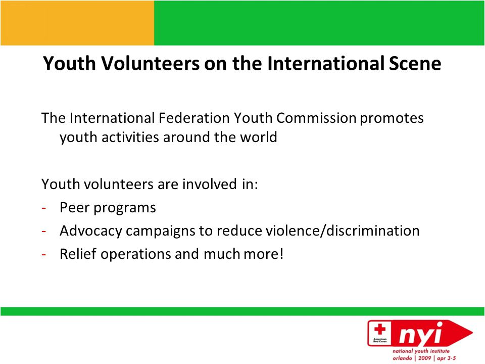 How can youth be involved?  Disaster Action Teams  Who is involved?  What it takes?