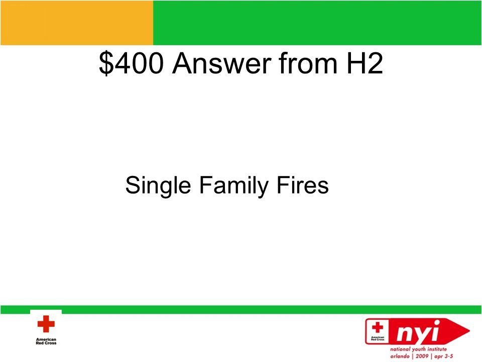 $400 Question from H2 What is the most common disaster responded to in the US