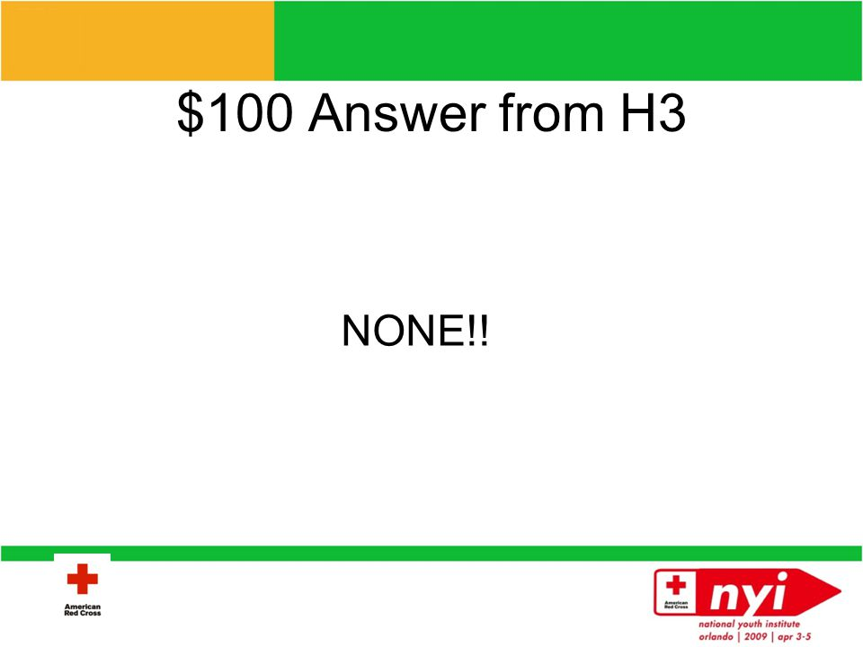 $100 Question from H3 How much money does the ARC receive from the government