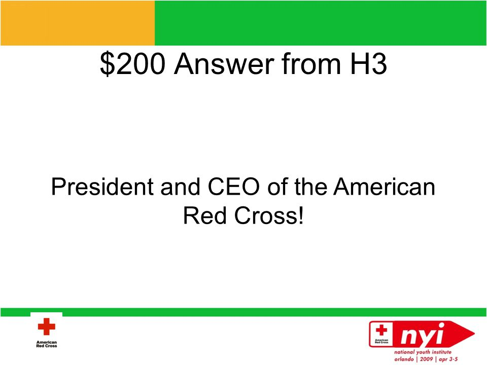 $200 Question from H3 Who is Gail McGovern