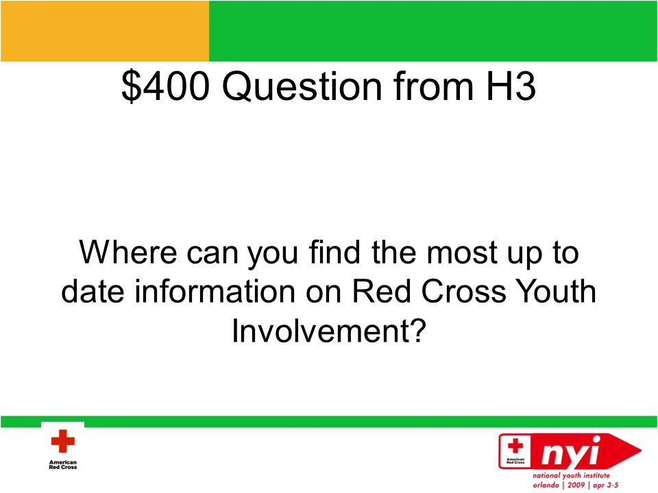 $300 Answer from H3 Exploring Humanitarian Law