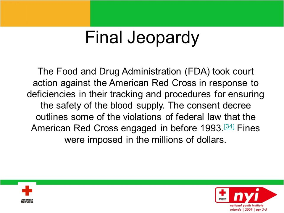 Final Jeopardy What is the Consent Decree?