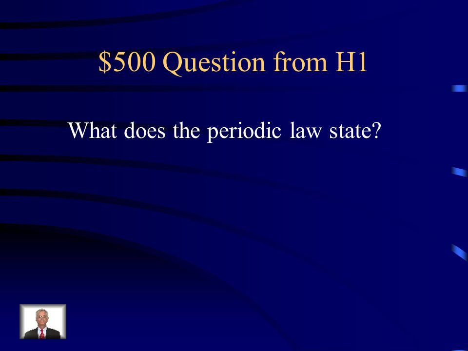 $400 Answer from H1 What is chemical solitaire