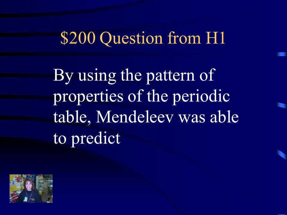 $100 Answer from H1 What atomic mass