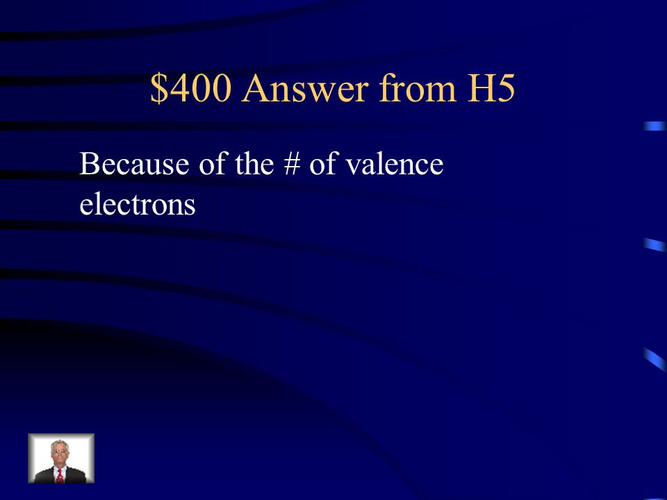 $400 Question from H5 Why do elements in the same group have similar physical and chemical properties?