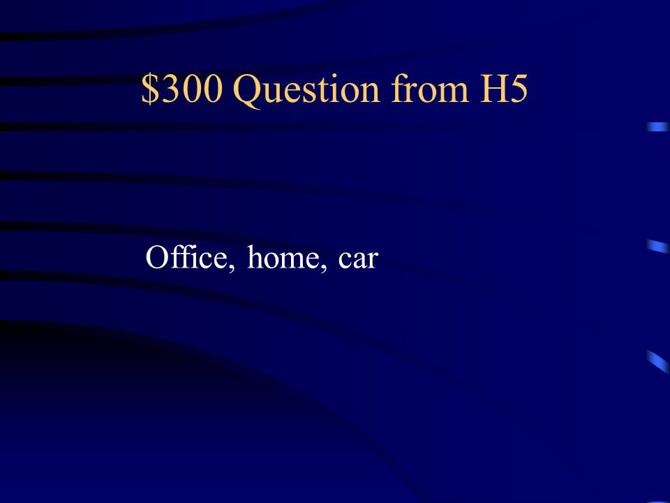 $200 Answer from H5 What is an emergency evacuation checklist