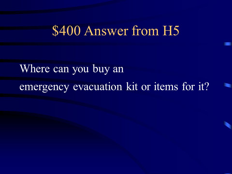 $400 Question from H5 Loew's, Home Depot, Dollar Store, Target, Online resources