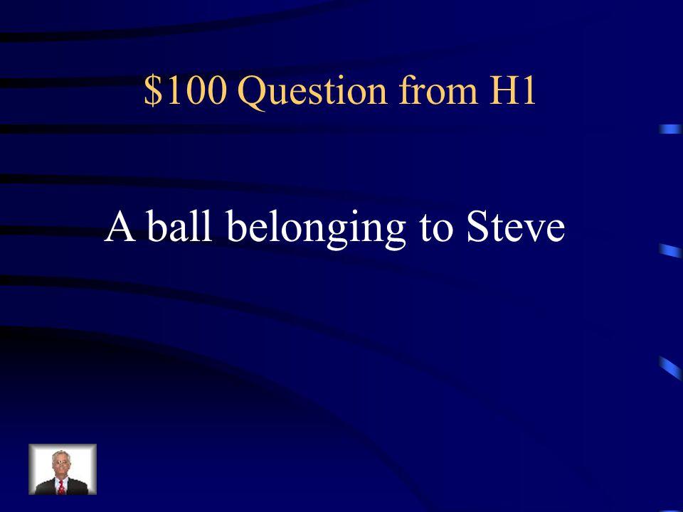$100 Question from H3 Singular of Children