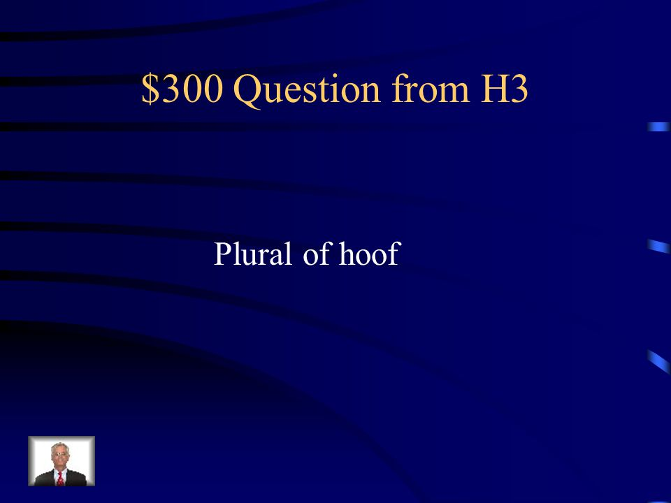 $200 Answer from H3 Waltzes