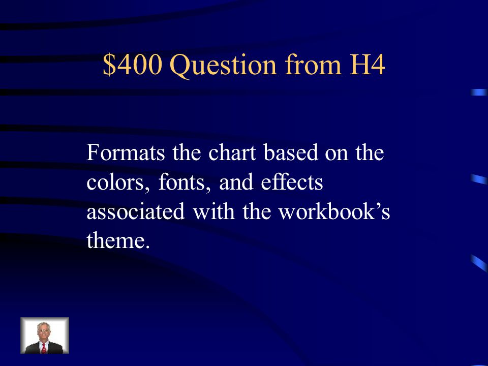 $300 Answer from H4 What is Chart Sheet.