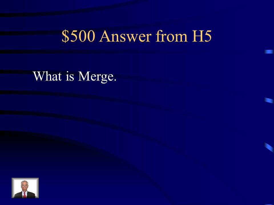 $500 Question from H5 Combines multiple cells into one cell.