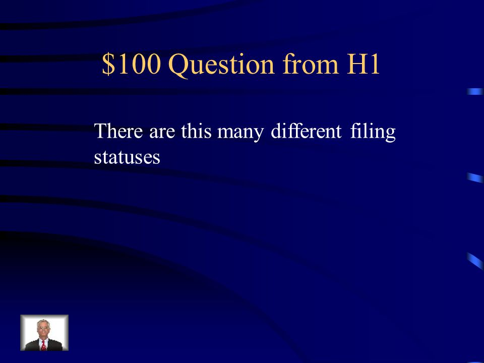 $100 Question from H4 For most people, the standard deduction is based on this