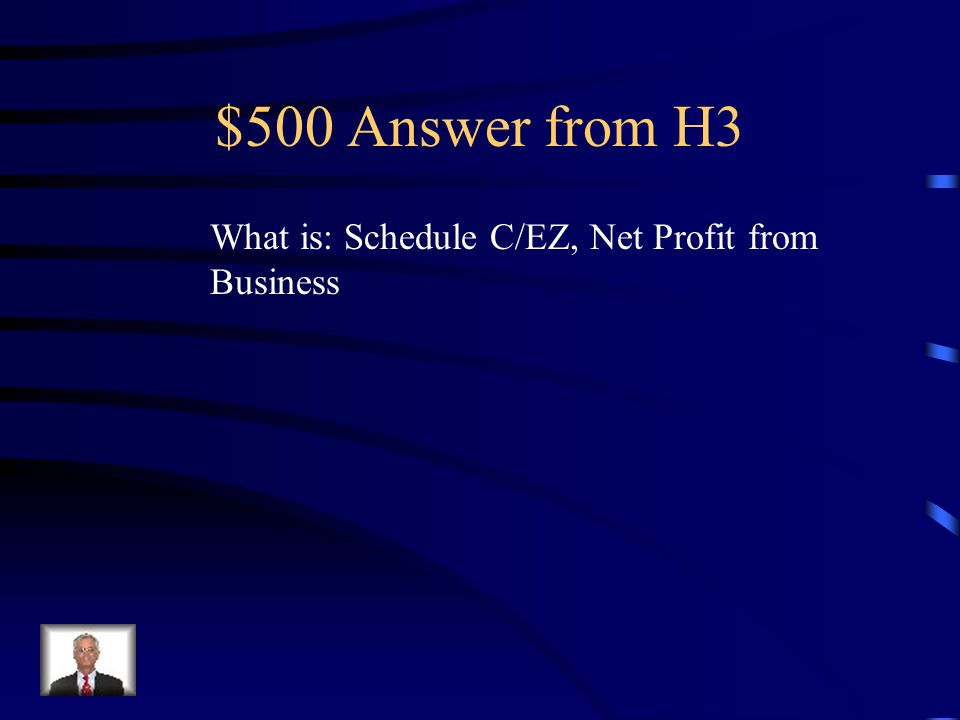 $500 Question from H3 Taxpayers who are paid in cash or receive Form 1099-MISC for non- employee compensation are usually required to file this tax sc