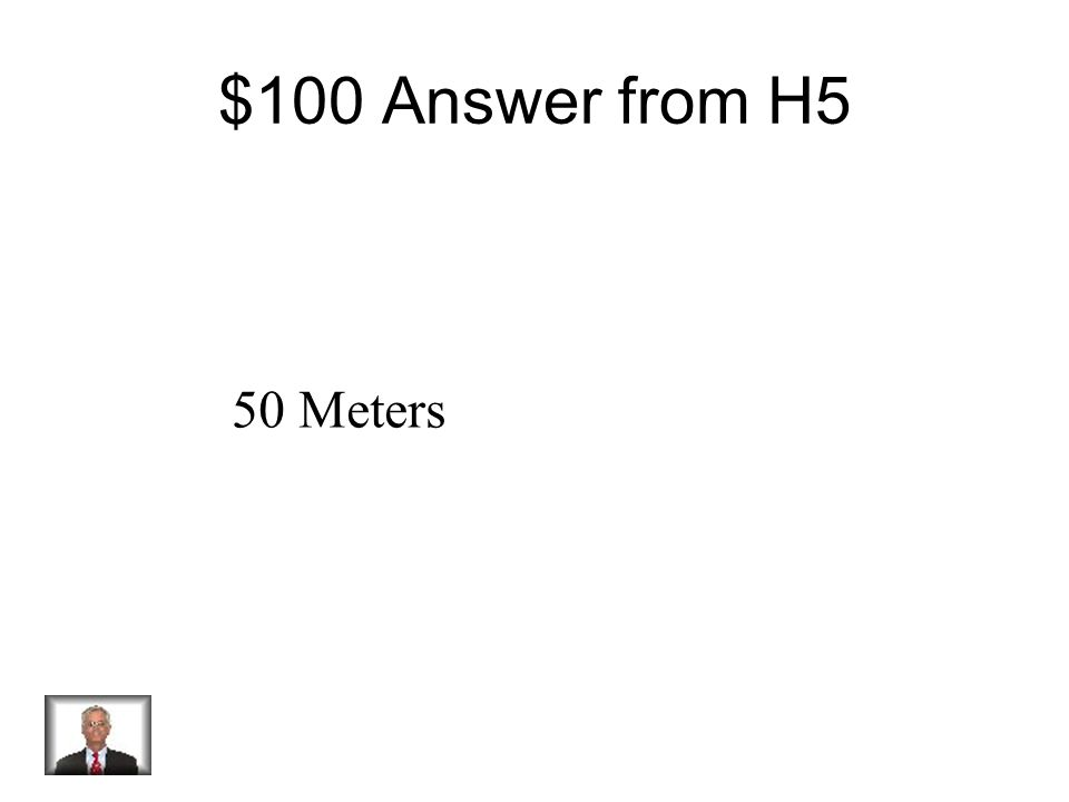 $100 Question from H5 Distance vs. Time What is the distance the object traveled between 10 to 15 seconds?