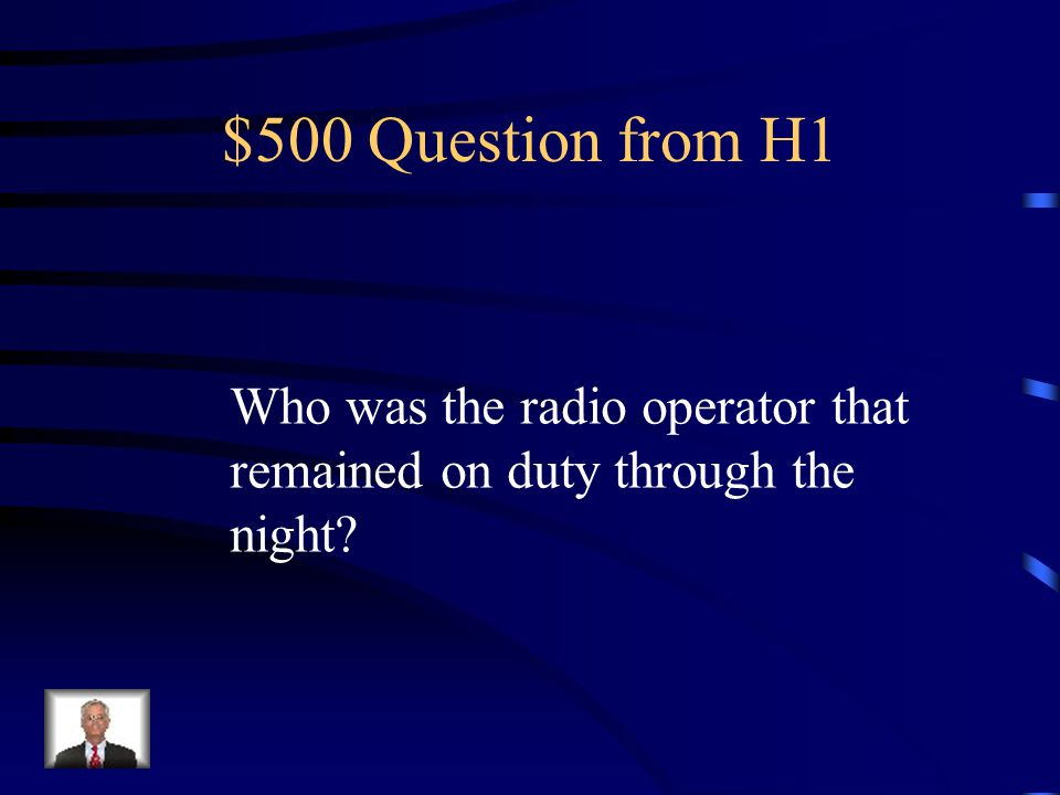 $400 Answer from H1 Walter Lord
